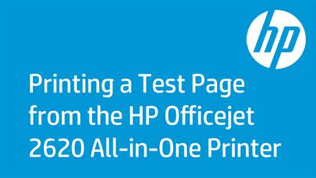 Printing a Test Page from the HP Officejet 2620 All-in-One Printer