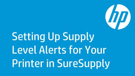 Setting Up Supply Level Alerts for Your Printer in SureSupply