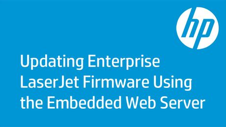 Updating Enterprise LaserJet Firmware Using the Embedded Web Server