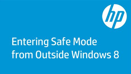 Entering Safe Mode from Outside Windows 8
