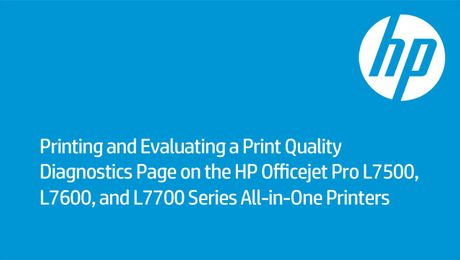Printing a Print Quality Diagnostics Page on the HP Officejet Pro L7500, L7600, and L7700 Series All-in-One Printers