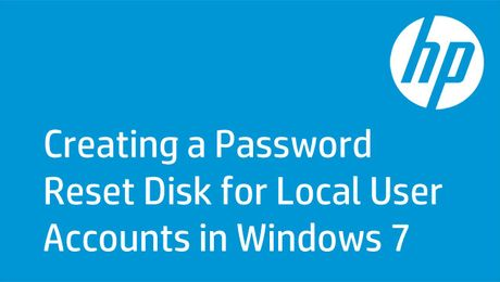 Creating a Password Reset Disk for Local User Accounts in Windows 7