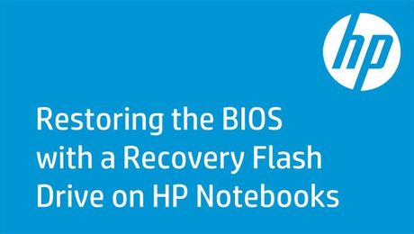 Restoring the BIOS with a Recovery Flash Drive on HP Notebooks
