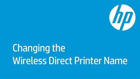 Changing the Wireless Direct Printer Name for HP Enterprise Printers