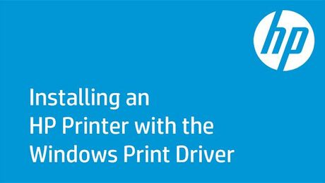Installing an HP Printer with the Windows Print Driver