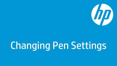 Changing Pen Settings in Windows 10