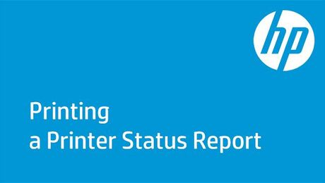 Printing a Printer Status Report on HP OfficeJet Pro 6900 Printers