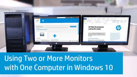 Setting Up Multiple Monitors in Windows 10