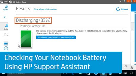 Checking Your Notebook Battery Using HP Support Assistant