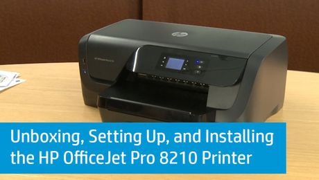 Unboxing, Setting Up, and Installing the HP OfficeJet Pro 8210 Printer