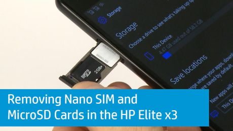 Removing Nano SIM and MicroSD Cards in the HP Elite x3
