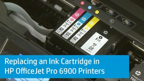 Replacing an Ink Cartridge in HP OfficeJet Pro 6900 Printers