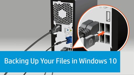 Backing Up Your Files in Windows 10