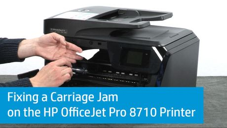Fixing a Carriage Jam on the HP OfficeJet Pro 8710 Printer
