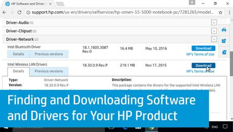 Finding and Downloading Software and Drivers for Your HP Product