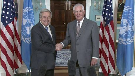 Secretary Tillerson Remarks with United Nations Secretary-General Antonio Guterres