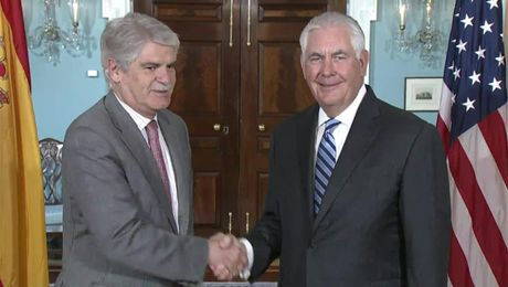 Secretary Tillerson meeting with Spanish Foreign Minister Quecedo