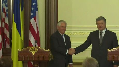 Secretary Tillerson Delivers Remarks at Press Conference in Kyiv, Ukraine