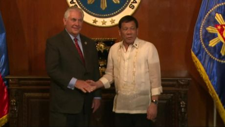 Secretary Tillerson with Phillippines President Rodrigo Duterte
