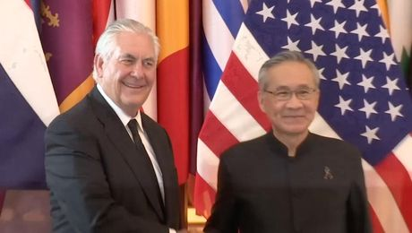 Secretary Tillerson Meets with Thai Foreign Minister Don Pramudwinai