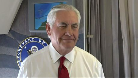 Secretary Tillerson Speaks on North Korea With Press En Route To Guam
