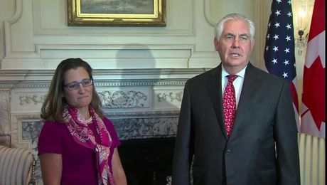 Secretary Tillerson Meets with Canadian Foreign Minister Freeland