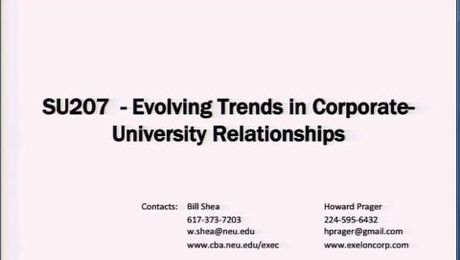 Evolving Trends in Corporate-University Relationships