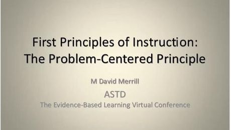 First Principles of Instruction: The Problem-Centered Principle