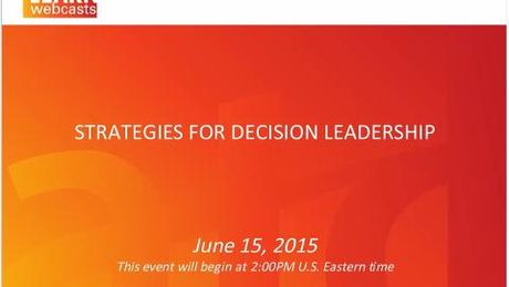 Strategies for Decision Leadership
