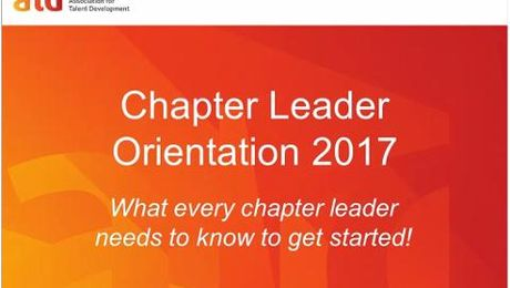 Chapter Leader Orientation & Onboarding 2017