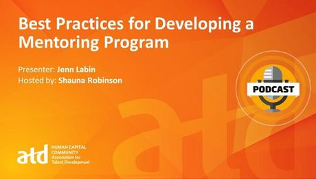 Best Practices for Developing a Mentoring Program