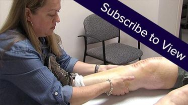 Total Knee Replacement, 7 days post: Lymphatic Drainage, 2