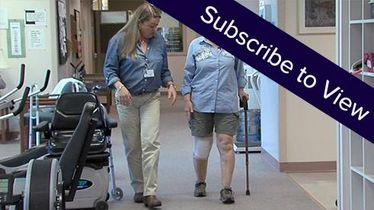 Total Knee Replacement, 7 days post: Training in Ambulation