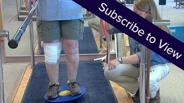Total Knee Replacement, 7 days post: Strengthening with a Balance Disc