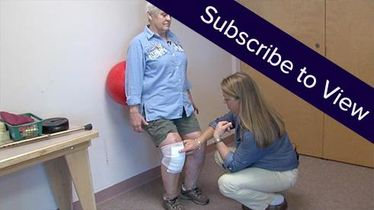 Total Knee Replacement, 7 days post: Wall Exercises