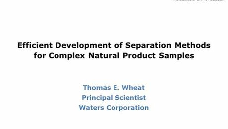 Webinar: Separation Methods for Complex Natural Products