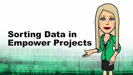 Sorting Data in Empower Projects