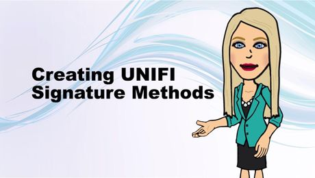 Creating UNIFI Signature Methods