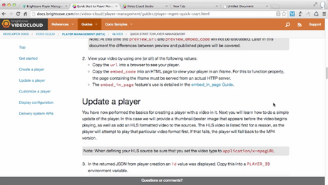 Update a Player with the Player Mangement API