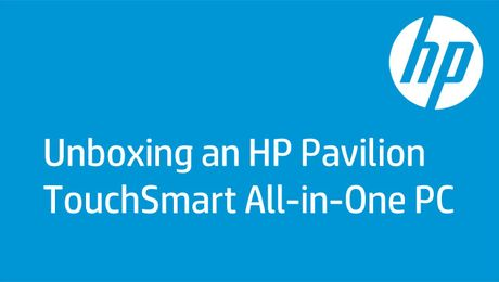 Unboxing an HP Pavilion TouchSmart All-in-One PC