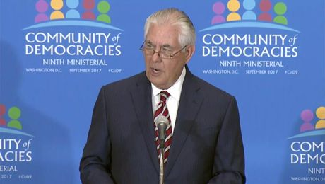 Remarks With Secretary General of the Community of Democracies Thomas Garrett