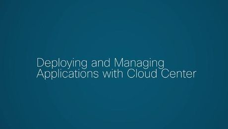 Deploying Applications with Cloud Center