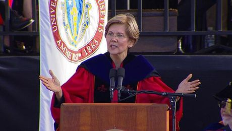 Senator Warren speaks at UMass Amherst Commencement 2017