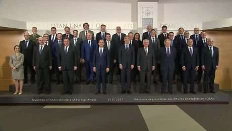 """Family Photo"" of NATO Leaders in Brussels"