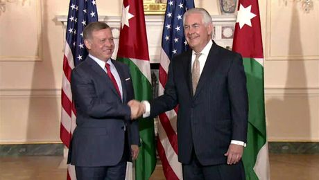 Secretary Tillerson Welcomes King Abdullah II of Jordan