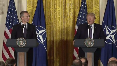 President Trump and NATO Secretary General Stoltenberg hold Joint Press Availability