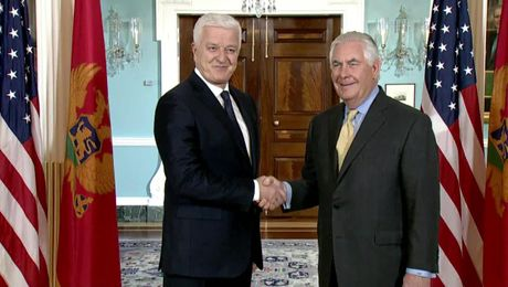 Secretary Tillerson meets with  Montenegrin Prime Minister Markovic
