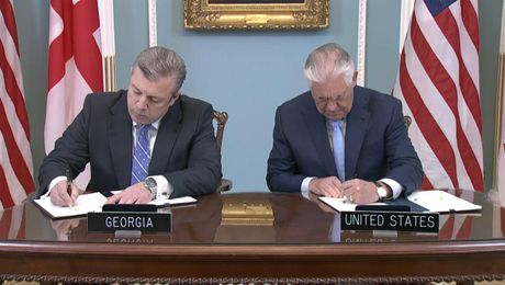Signing Ceremony for the U.S.- Georgia General Security of Information Agreement