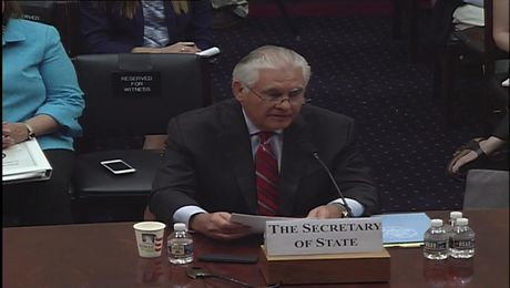 Secretary Tillerson Opening Statement to the House Committee on Foreign Affairs