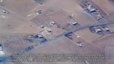 WATCH: One Airstrike Takes Out Five Daesh Positions